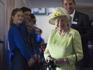 HRH Queen Elizabeth visiting Kings Bruton to commemorate the 500th Anniversary