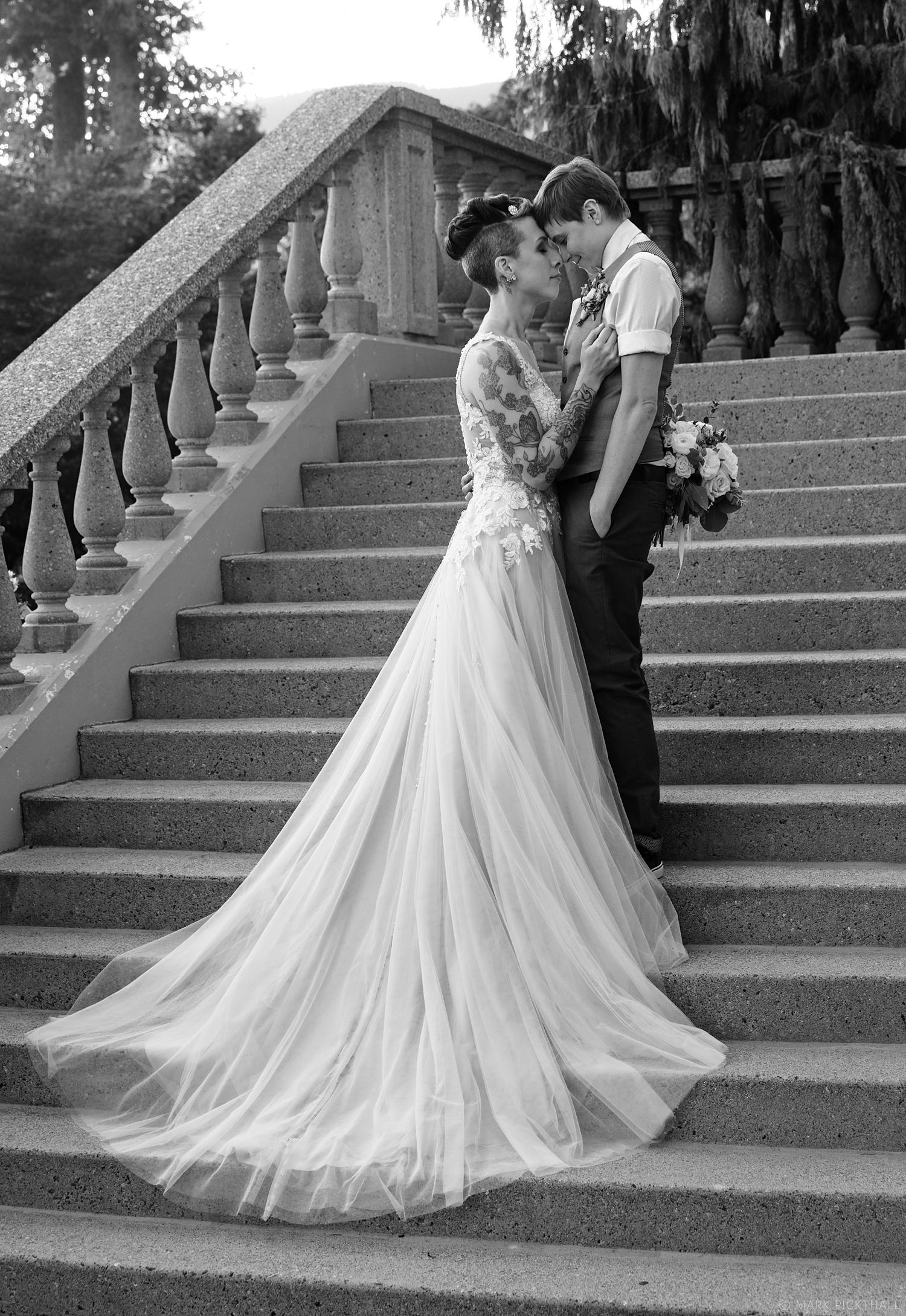 Monochrome Wedding photography, partners for life