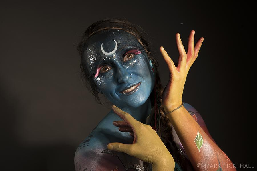bodyart, studio photography, makeup artist, Glastonbury bodyart festival