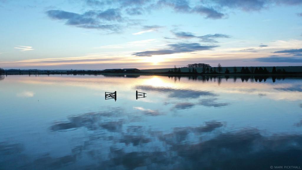 Muchelney floods drone dji